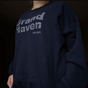 navy grand haven crewneck